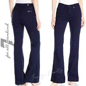 7 for All Mankind jeans trouser high rise wide leg